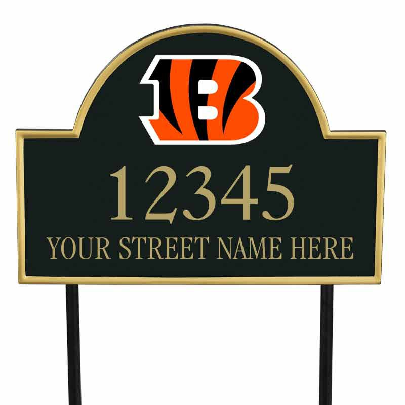 The NFL Personalized Address Plaque 5463 0355 c bengals