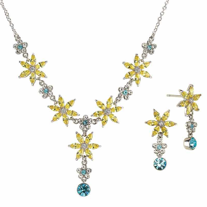 The Almond Blossom Necklace  Earring Set 6490 001 2 1