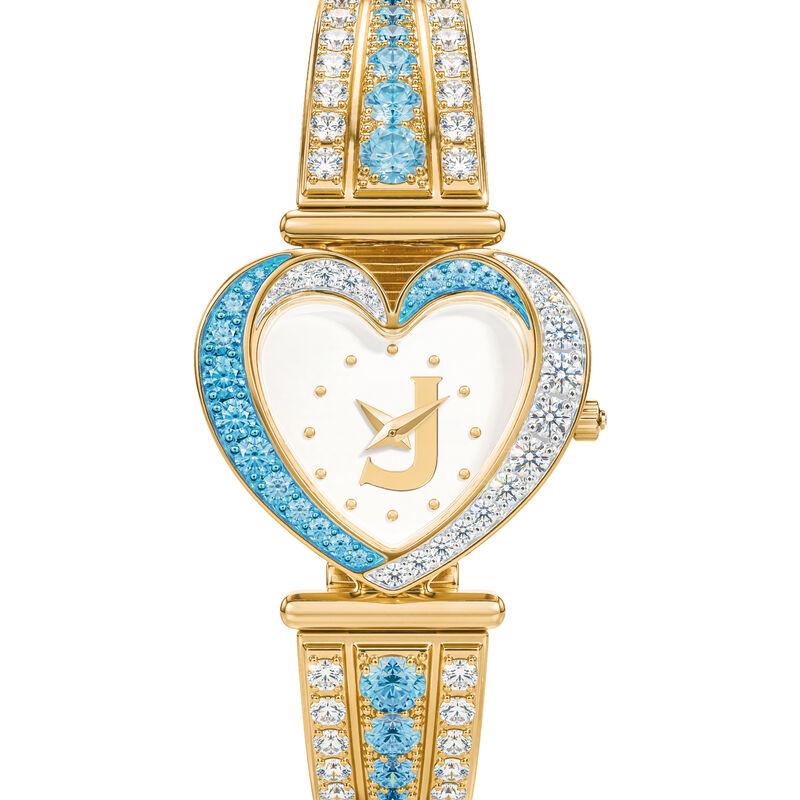 Womens Birthstone Initial Heart Watch 10332 0016 c march