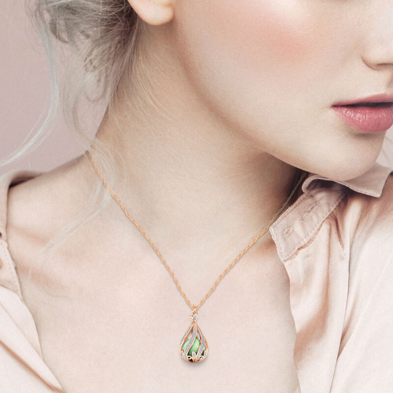 Copper Embrace Diamond and Jade Necklace 10306 0018 m model