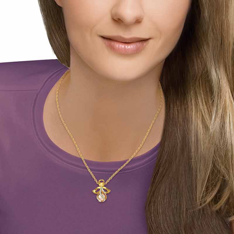 Heavens Embrace Pearl Diamond Necklace 6283 001 3 3