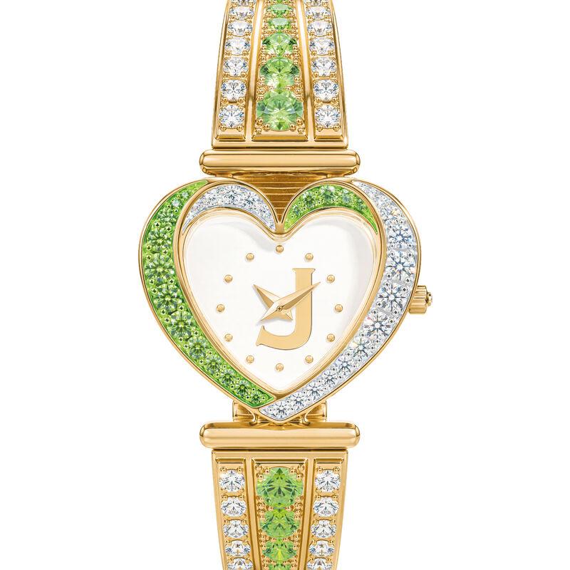 Womens Birthstone Initial Heart Watch 10332 0016 h august
