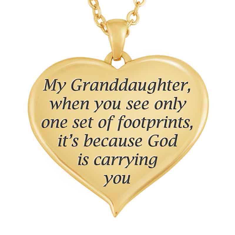 Footprints in Sand Granddaughter Pendant 1455 001 6 2