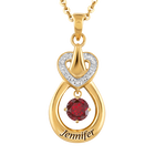 Genuine Birthstone Drop Pendant 2273 001 4 1