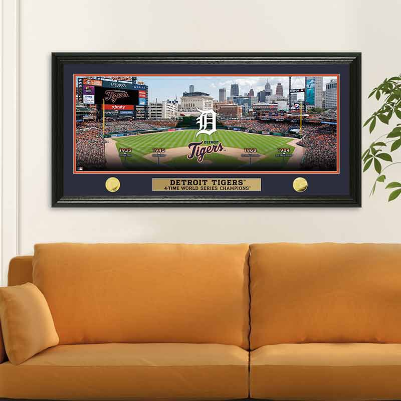 Detroit Tigers World Series Panoramic Frame 4392 170 9 2