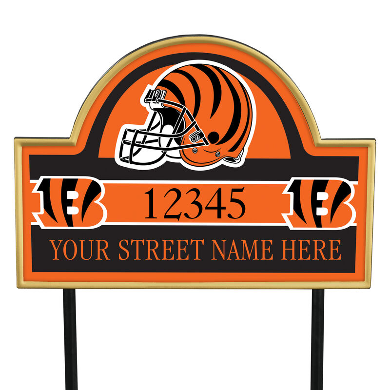 NFL Pride Personalized Address Plaques 5463 0405 a bengals