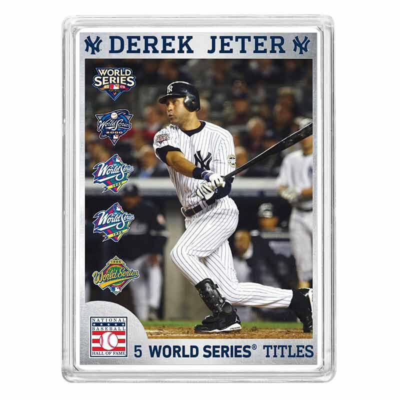 Derek Jeter Hall of Fame Silver Commemorative 6395 001 8 1