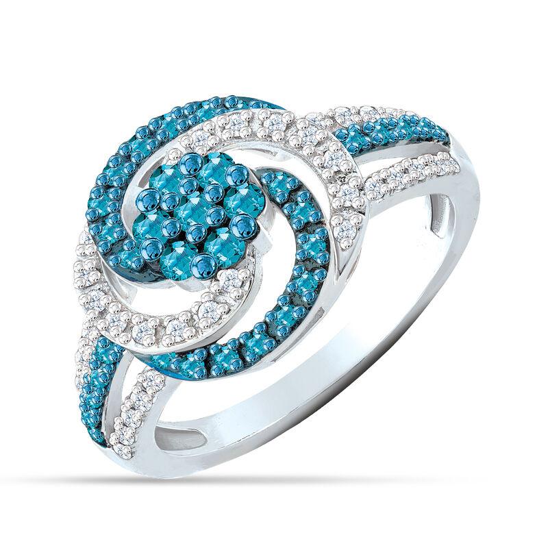 Simply Stunning Blue White Diamond Ring 6533 0011 a main