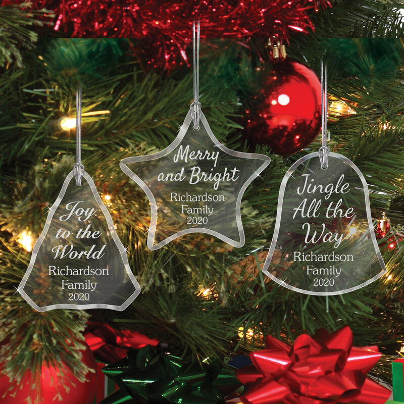 The Personalized Glass Ornament Set 10082 0018 c red decoration