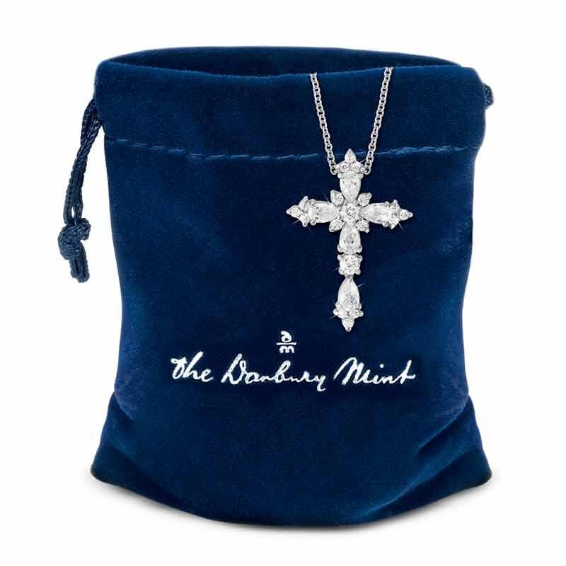Dazzling Devotion Diamonisse Cross Pendant 4980 005 5 3