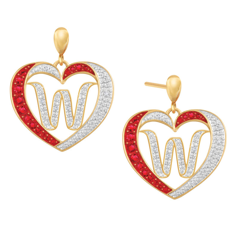 Diamond Initial Heart Earrings 2300 0094 w initial
