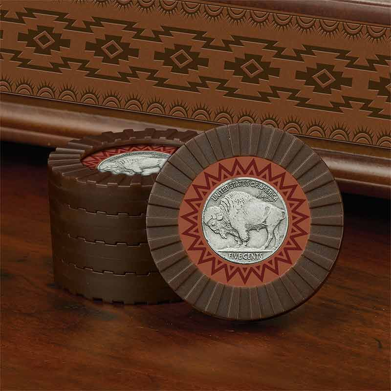 The Buffalo Nickel and Indian Head Penny Checkers Set 5403 001 0 2