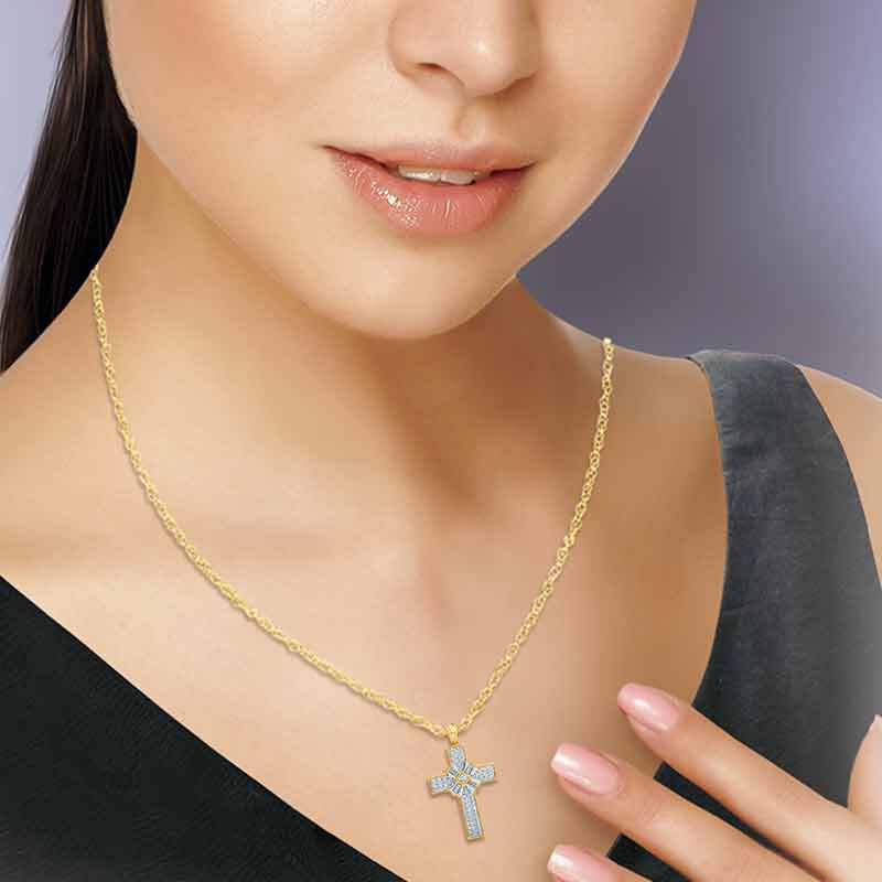 Diamonisse Devotion Cross Pendant 6064 001 8 3
