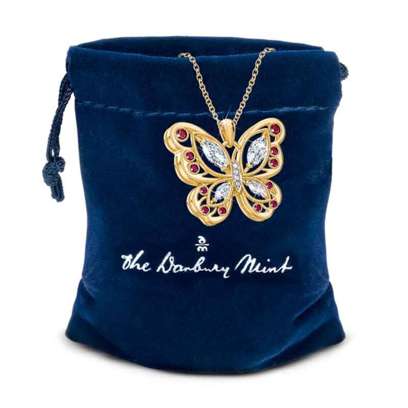 The Birthstone Butterfly Diamond Pendant 2030 001 8 14
