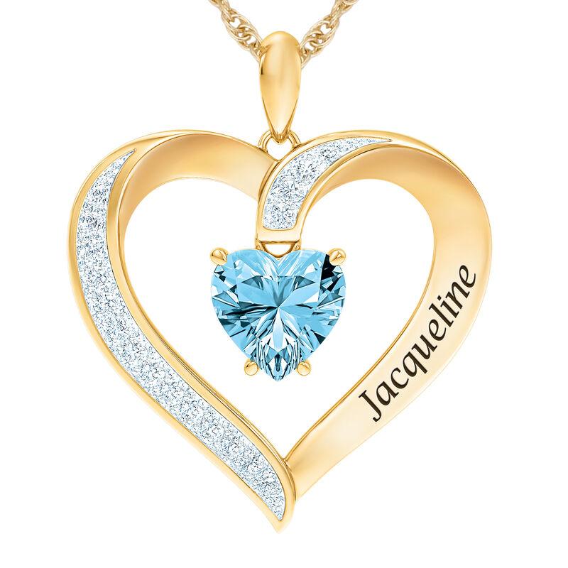 The Birthstone Heart Pendant 6015 0026 c march