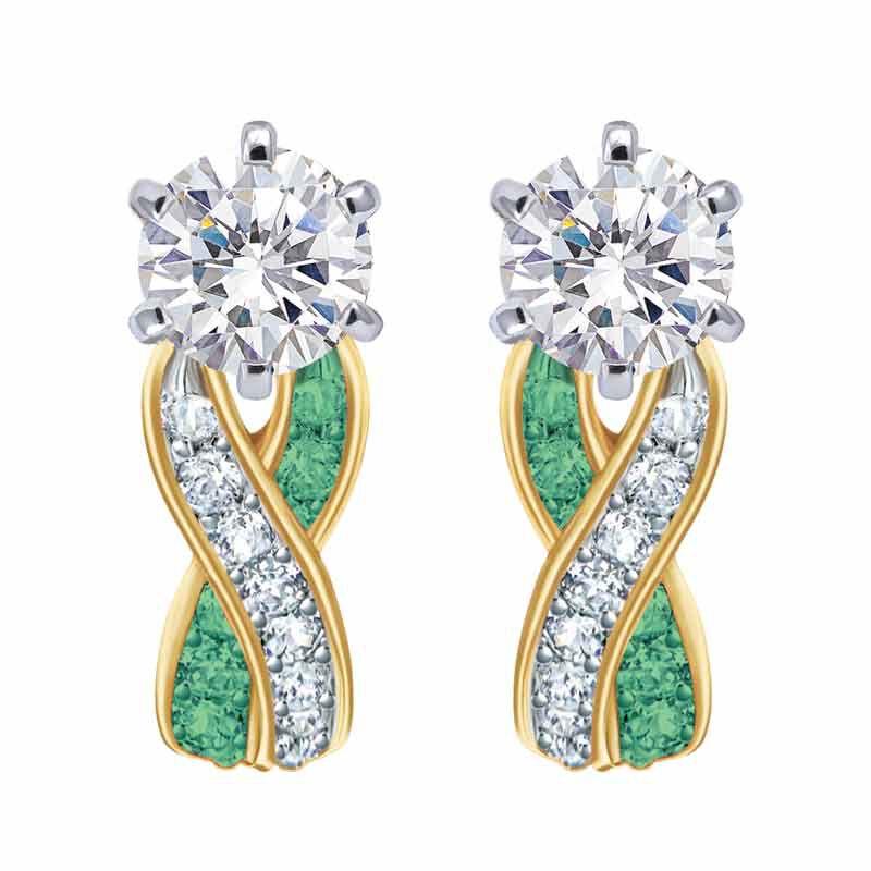 Birthstone Swirl Earrings 2647 001 3 5