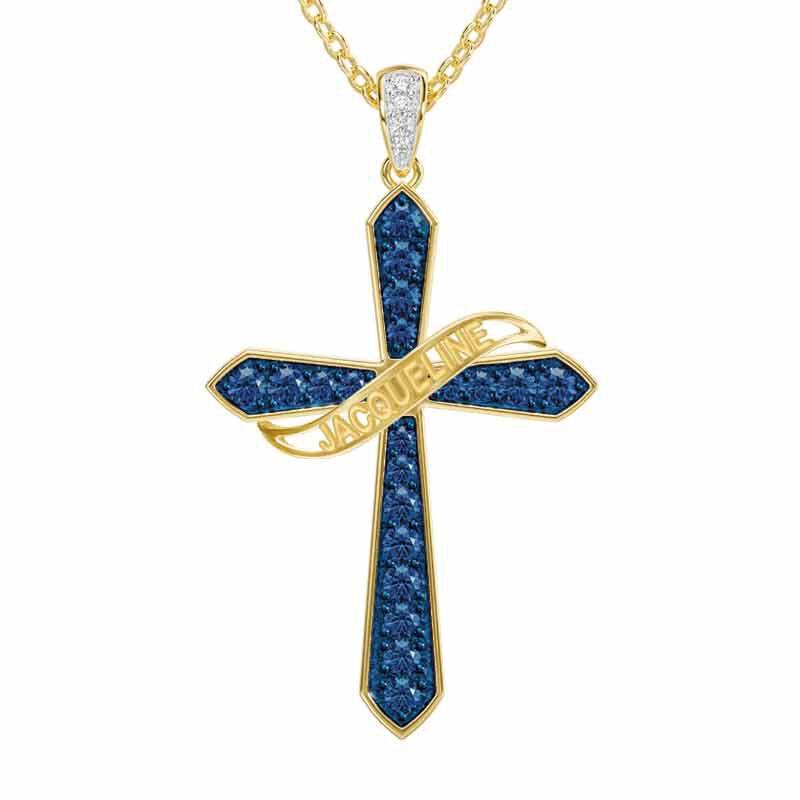 The Birthstone  Diamond Cross Necklace 6787 001 4 9