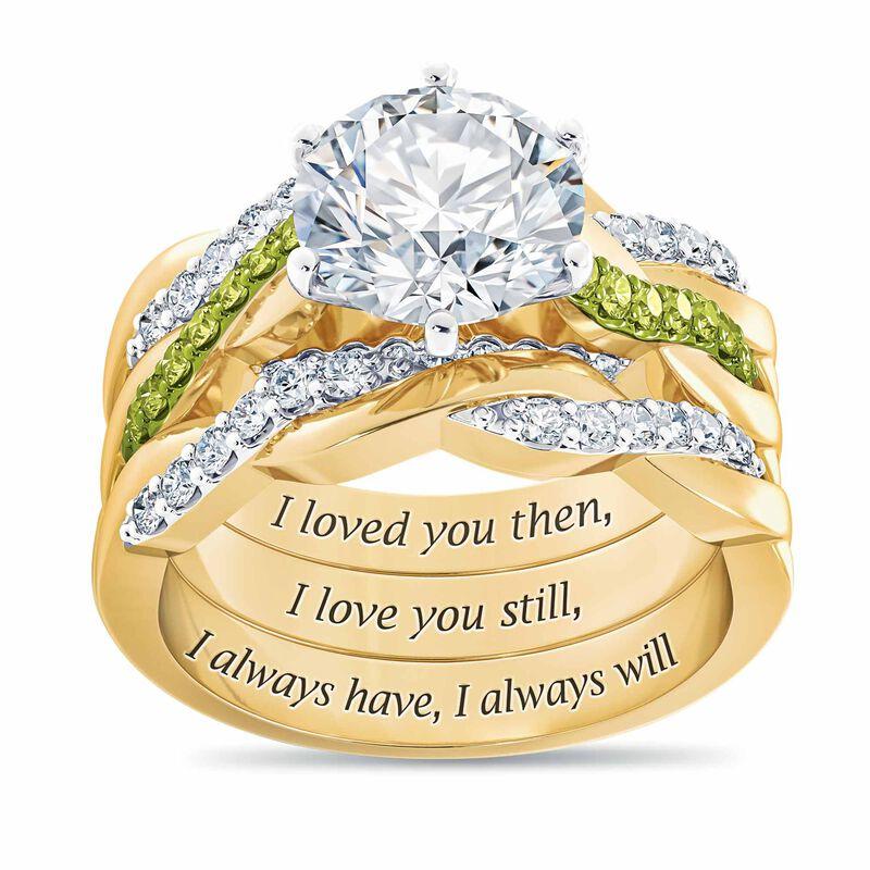 I Still Do Birthstone Ring Set 6740 0010 a main