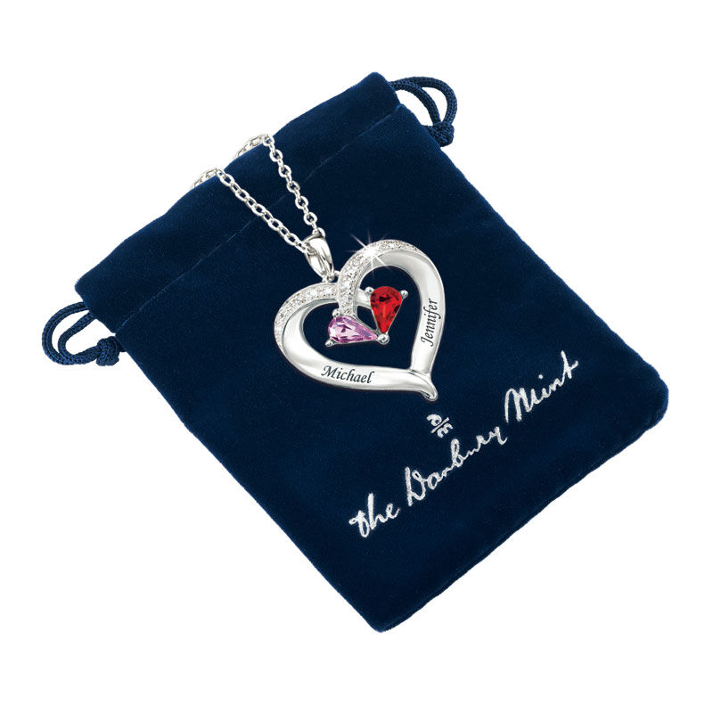 Forever Together Birthstone  Diamond Heart Pendant 4301 003 2 2