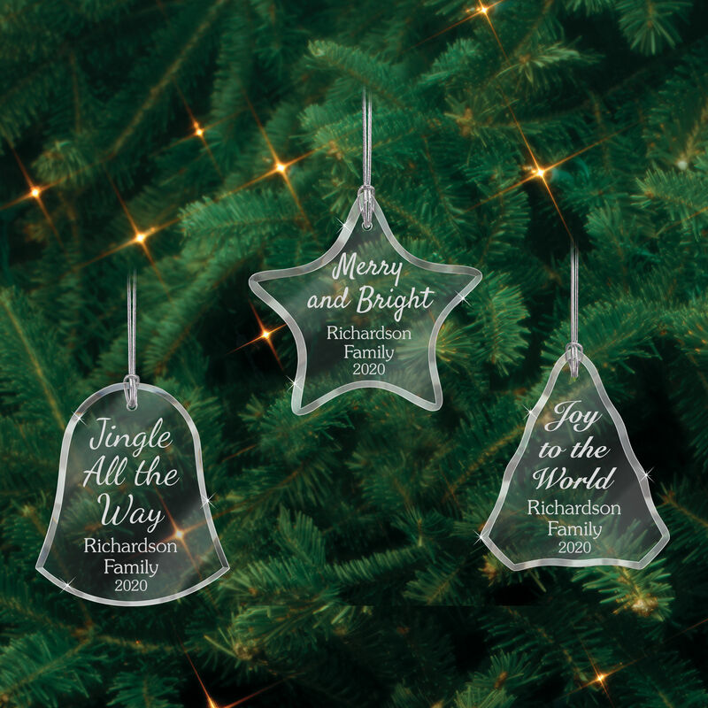 The Personalized Glass Ornament Set 10082 0018 d ornaments tree