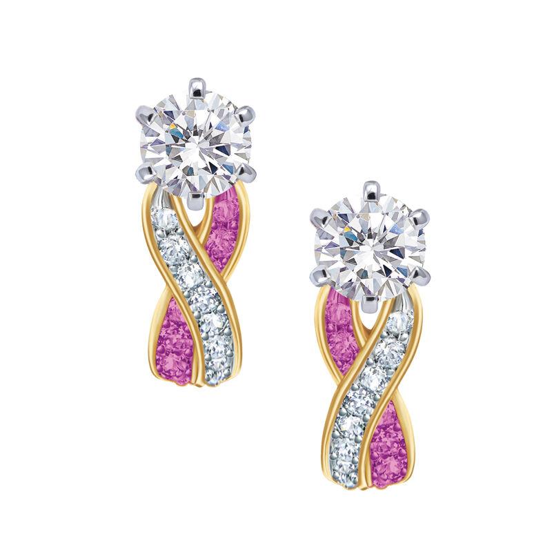 Birthstone Swirl Earrings 6243 0038 j october