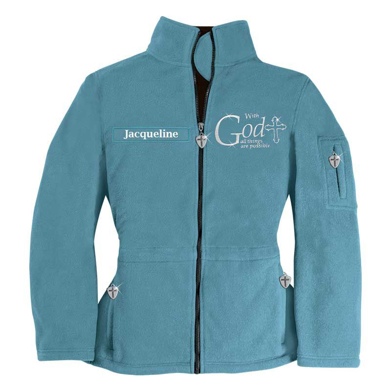 With God All Things are Possible Fleece Jacket 1100 001 5 1