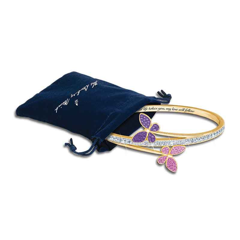 My Love Will Always Follow You Granddaughter Butterfly Bangle 6248 001 7 4