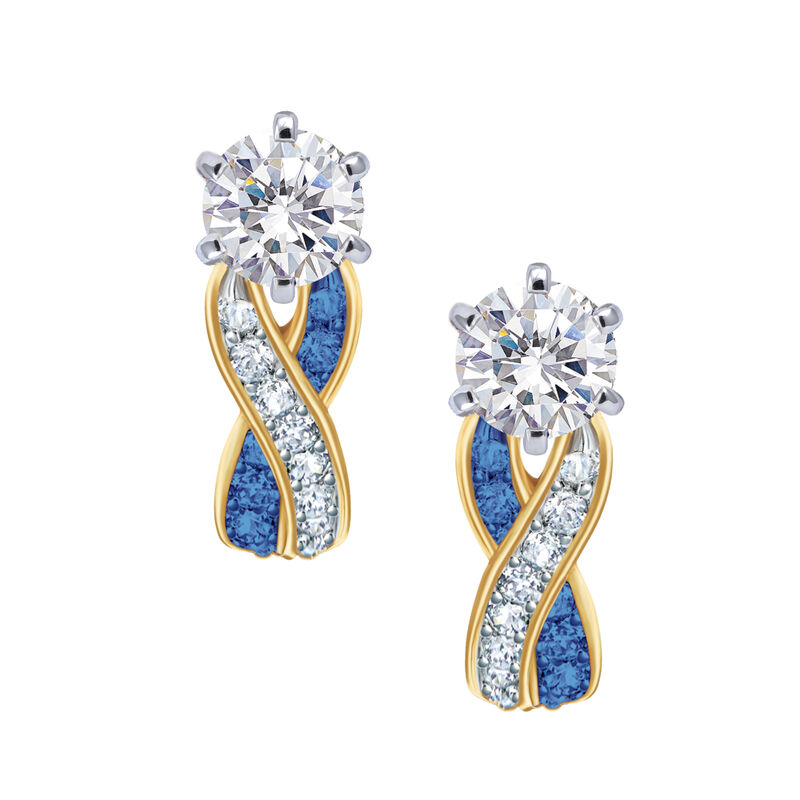 Birthstone Swirl Earrings 6243 0038 i september