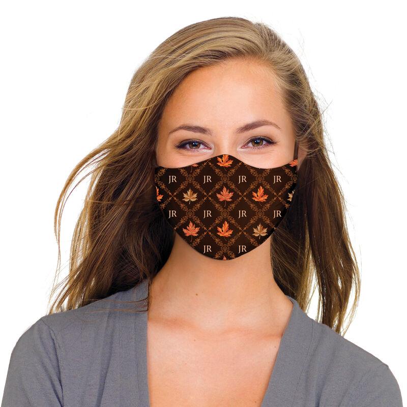 Fabulously Fall Personalized Monogram Face Masks 10024 0019 b model