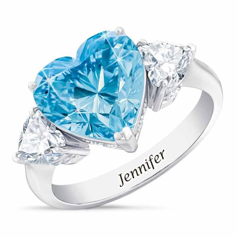 Birthstone Triple Heart Ring 1516 001 3 3