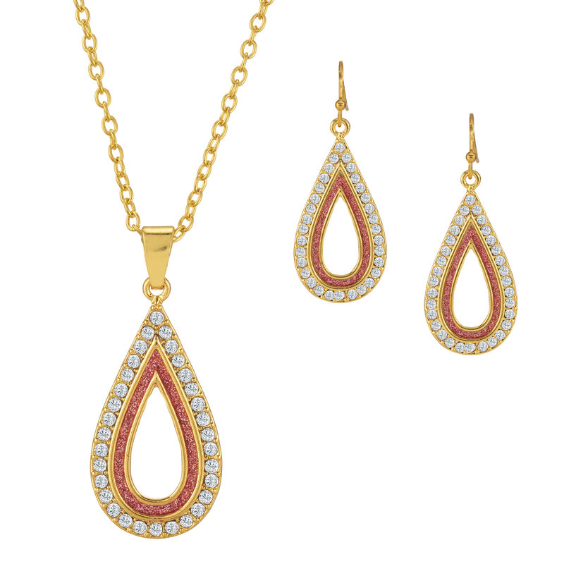 Sparkling Statements Pendant and Earring collection 10028 0015 e april