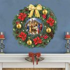 The Nativity Lit Christmas Wreath 1216 001 6 2