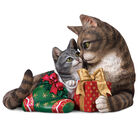 Cat and Kitten Christmas Figurine 6036 0013 a main