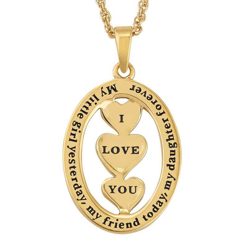 My Daughter I Love You Diamond Pendant 2965 015 7 3