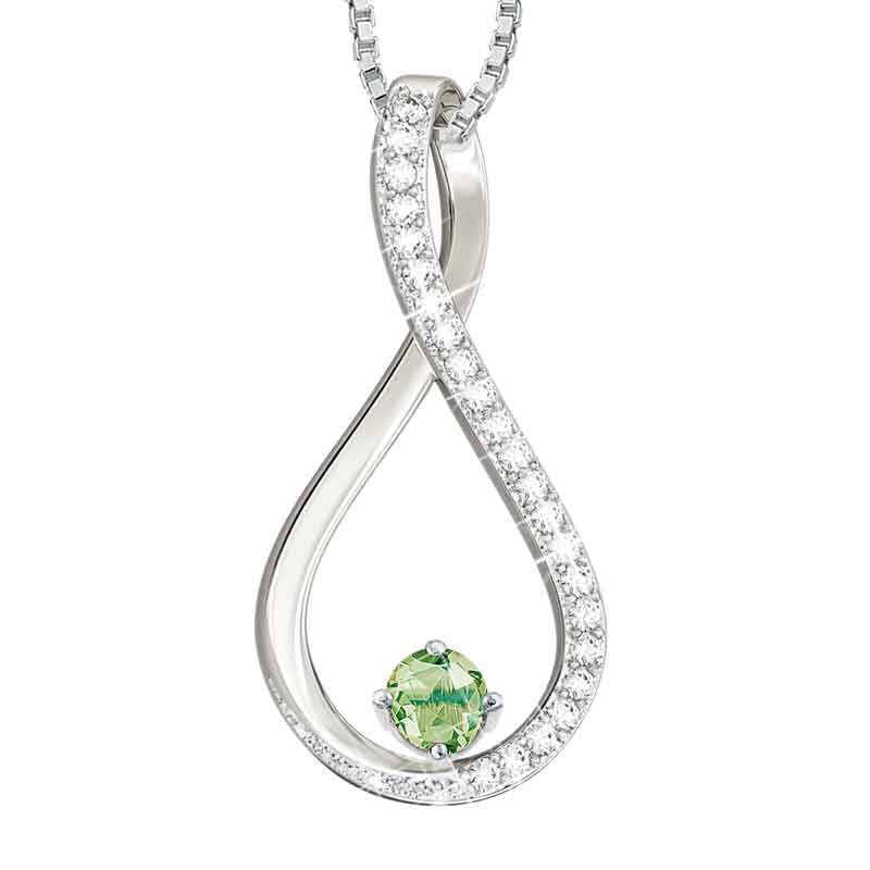 The Birthstone  Diamond Infinity Pendant 5200 001 5 8