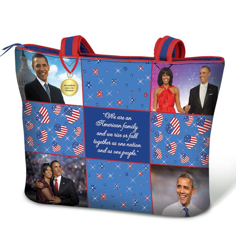 The Obamas Quilted Tote Bag 5600 001 1 1