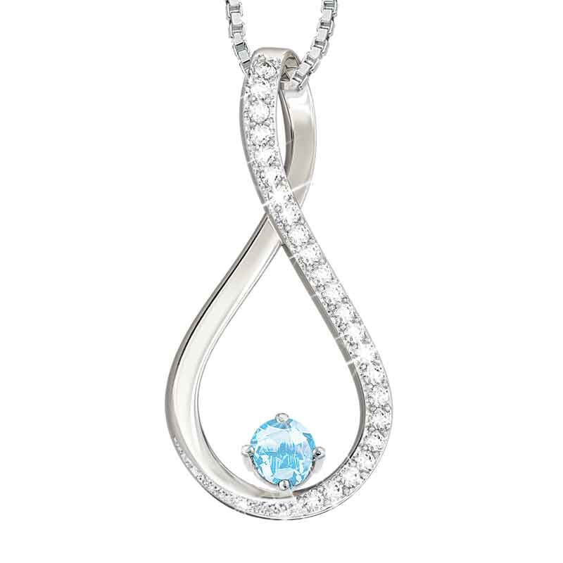 The Birthstone  Diamond Infinity Pendant 5200 001 5 3