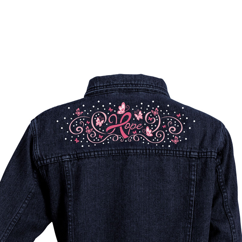 Personalized Hope Denim Jacket 10457 0015 d back