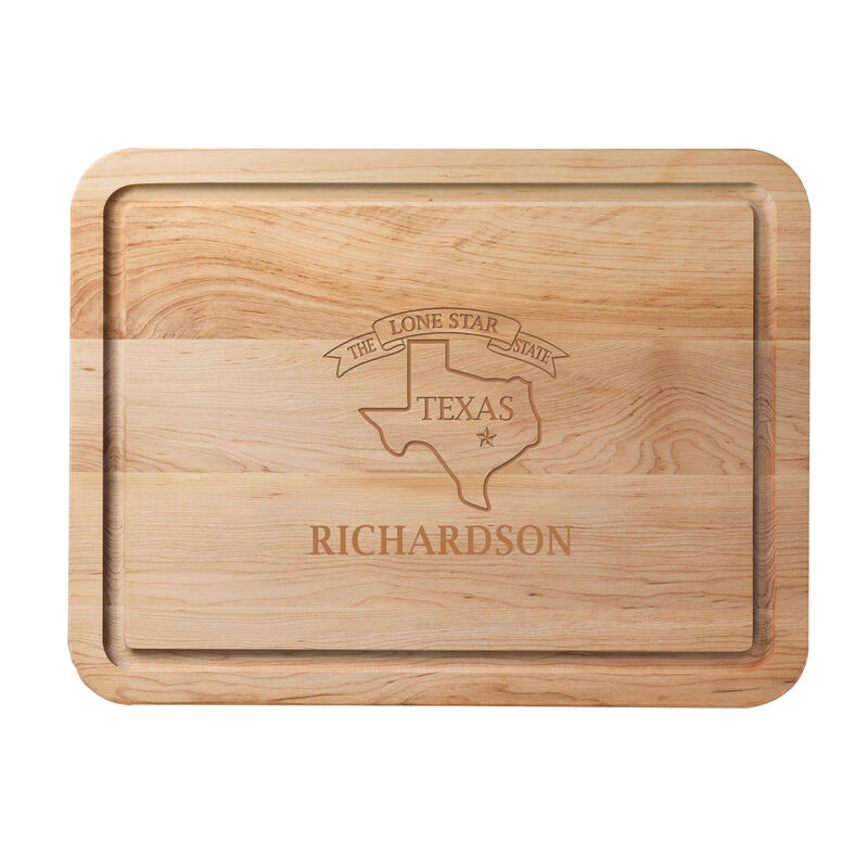 The Personalized State Cutting Board 2416 0020 b texas