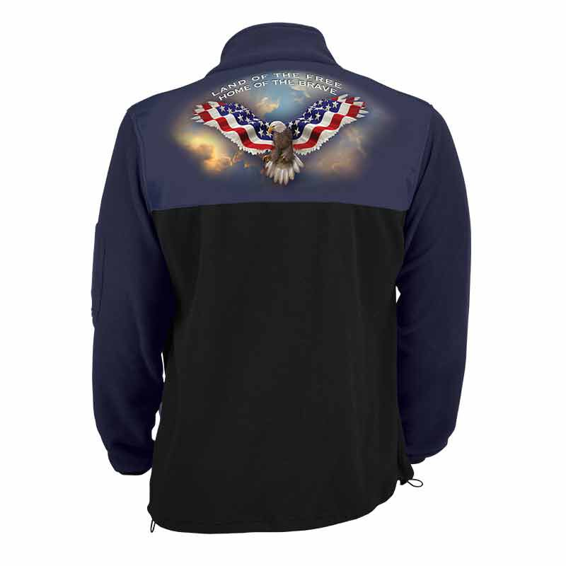 The American Patriot Personalized Fleece Jacket 1733 001 0 2