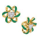 Birthstone Beauty Heart Earrings 2627 0066 e may