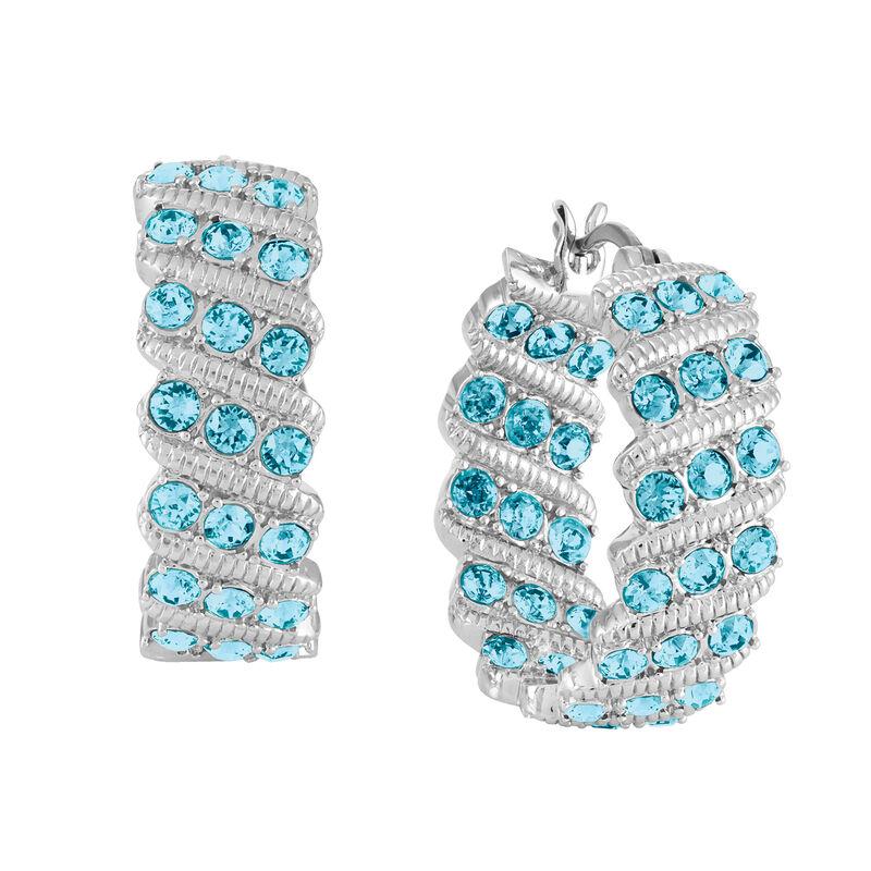 Birthstone Hoop Earrings 6003 0020 c march
