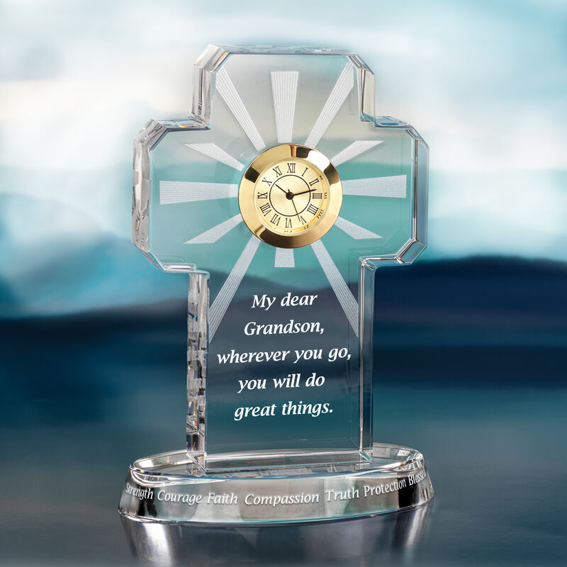 My Blessed Grandson Crystal Desk Clock 6654 0014 b clock