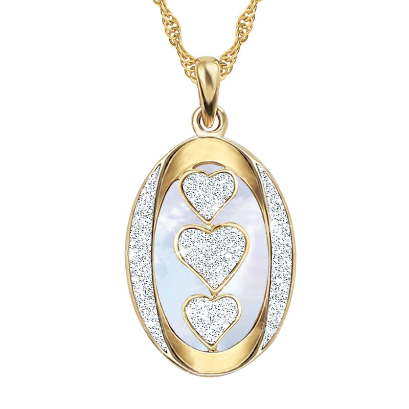 My Daughter I Love You Personalized Diamond Pendant 1162 0127 b front