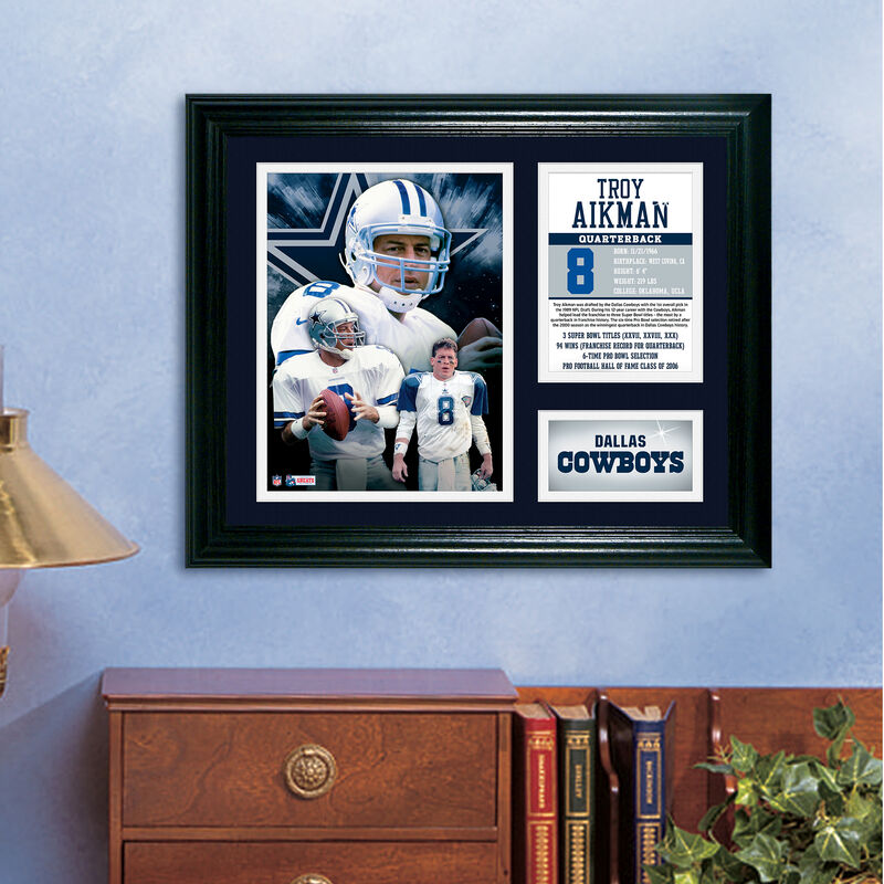 Troy Aikman Framed Photo Collage 4391 1650 m room