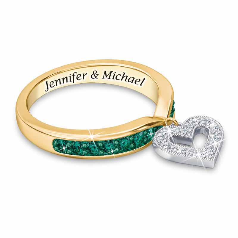 My Love Birthstone  Diamond Charm Ring 2145 001 0 5