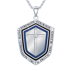 Blessed Grandson Shield Pendant 2258 001 3 1