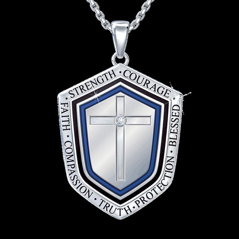 Blessed Grandson Shield Pendant 2258 001 3 1
