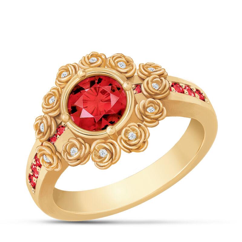 A Dozen Roses Birthstone Diamond Ring 6874 0018 g july