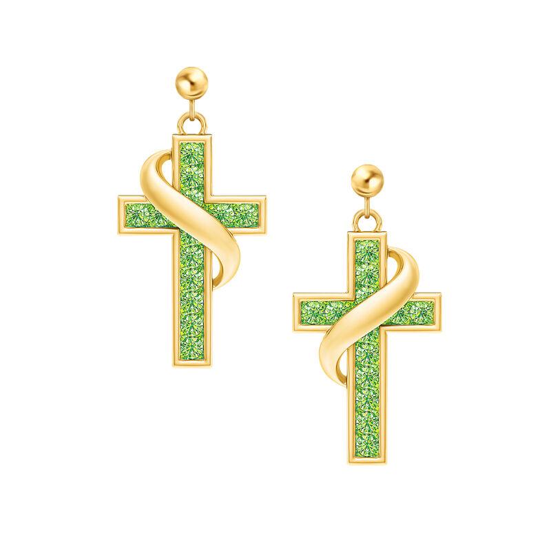 Birthstone Cross Earrings 5657 0021 h august